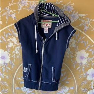 True Religion sleeveless fleece hoodie